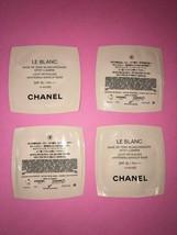 4 Packs Chanel Le Blanc Whitening Makeup Foundation Base Spf 35 Samples - $12.86