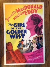 THE GIRL OF THE GOLDEN WEST 1938 Style D 1-Sht Jeanette MacDonald & Nels... - $199.00