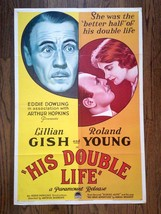 HIS DOUBLE LIFE (1930) Stone Litho One-Sheet with Roland Young and Lilli... - $249.00