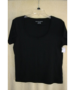 New York & Co. Black Cotton Summer T-Shirt    Juniors SZ L  NWT - $4.99