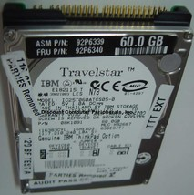 IBM IC25T060ATCS05-0 60GB 2.5in 12MM IDE Drive Free USA Ship Our Drives Work