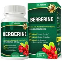 EzyAbsorb Gluten-Free Berberine 500mg, 90 Veggie Capsules for Blood Sugar Suppor