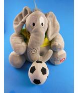 "Hallmark Soccer 7"" Elephant Plush with Sound  and Emerson # 10 shirt - $9.28"