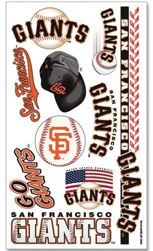 SAN FRANCISCO GIANTS TEMPORARY TATTOOS GAME TAILGATE PARTY FACE MLB BASEBALL