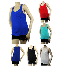 Scoop Neck Solid CHIFFON Cute Tank Tops w/Pocket Casual Comfort Layer Shirts SML - $15.99