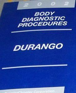 2002 DODGE DURANGO BODY DIAGNOSTICS PROCEDURES Service Repair Shop Manual OEM