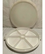 VTG Tupperware #405 7 Compartment Relish /Serving Tray W/ #224 Cover..No... - $6.92