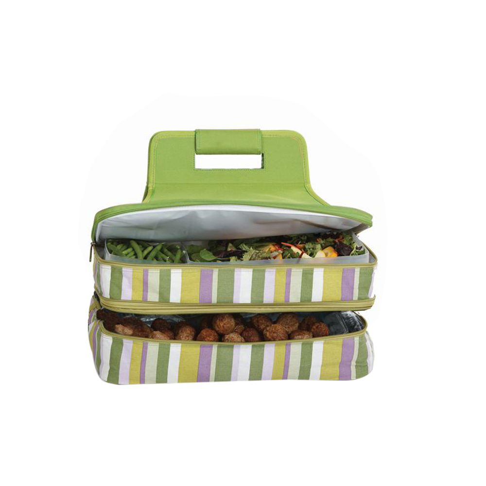 Picnic Plus Entertainer Insulated Hot and Cold Food Carrier Lime Rickey - $53.97