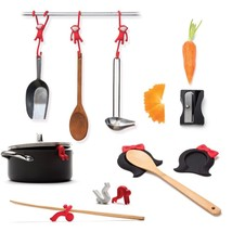 Cookware kitchen utensil set 5 Tools Funky Design Home Gifts Spoon rest ... - $115.61
