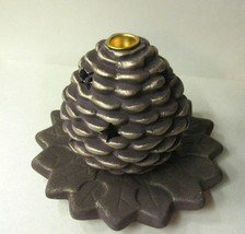 Candle holder 2pc pine cone thumb200
