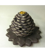 Candle Holder 2pc Pine Cone - $12.04