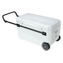 Chest Cooler Cart with Retractable Handle 110 Quart 2 Wheeled Beverage H... - $123.83