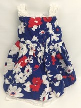 The Children's Place Girls 24 Months Dress Ruffles Red White Blue Sleeveless - $13.72