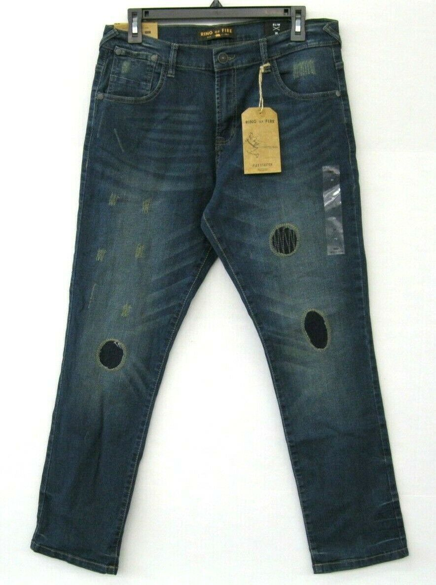 Primary image for Ring Of Fire Nwt  Jeunes Garçons Jeans Bleu Elan Jeans Taille 20 Slim Fit KD590