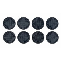 Round 8-Piece Silicone Black Drink Coasters - C... - $18.99
