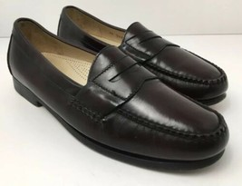 Cole Haan Mens US 10 Cordovan Burgundy Leather Penny Loafers Slip On Size 3504 - $35.59