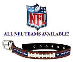Leather NFL Football Dog Collar * ALL TEAMS AVAILABLE *Sports Team Fan P... - €22,74 EUR