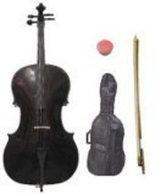 Lucky Gifts 1/8 Size Student Cello with Bag and Bow + Free Rosin ~ Black - $179.99