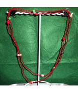Beaded Necklace Hand Strung  - $3.50