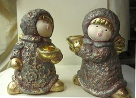 Candle Holder Pair of Angels for Taper - $15.04