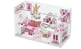 Princess Dollhouse Play Set Glass Cube Girls Children Imaginary Fun Doll... - $93.20
