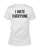 I Hate Everyone Back Print Women's Shirt Graphic T-shirt Short Sleeve Tee - $14.99+