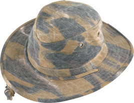 Henschel Cotton Oilcloth 10 Point Hat UPF 50+ Floats Sweatband Hardwood Camo - $54.00