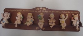 1997 Hamilton Collection 7 Natures  Little Cherubs Complete Set w Displa... - $199.99