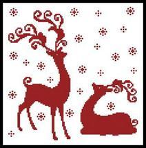 Reindeer Silhouettes #12171 cross stitch chart Artecy Cross Stitch Chart - $7.20