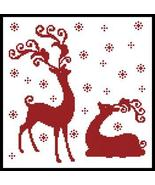 Reindeer Silhouettes #12171 cross stitch chart Artecy Cross Stitch Chart - $7.20