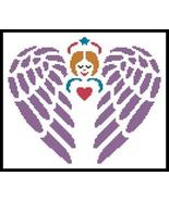 Little Guardian Angel #12091 cross stitch chart Artecy Cross Stitch Chart - $7.20