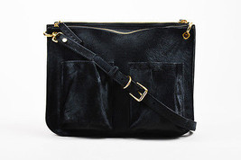 Marni  Black & Gold Tone Baby Calf Hair & Leather Bandoleer Bag - $910.00