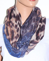 NWT Echo Multi Pattern Print Multi Color Infinity Loop Scarf 705M77 33x20 - $5.73