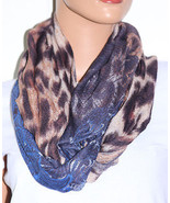 NWT Echo Multi Pattern Print Multi Color Infinity Loop Scarf 705M77 33x20 - $10.68