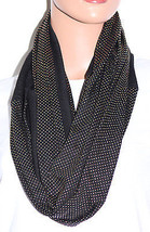 NWT Echo Mini Studded Pattern Black Infinity Loop Scarf 707132 36x20 - $9.89