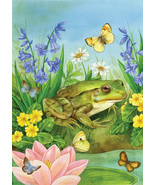 Frog pond lily pad butterflies cross stitch pattern thumbtall