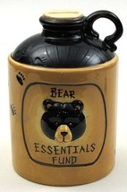 CERAMIC BEAR JUG COIN BANK Money Jar Container Great Gift! Brand New! - $34.82