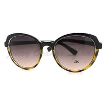 Womens Sunglasses Classic Casual Fashion Sunnies 2-Tone Print BLACK BROWN - $7.87