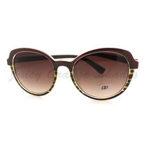Womens Sunglasses Classic Casual Fashion Sunnies 2-Tone Print BROWN - $7.87