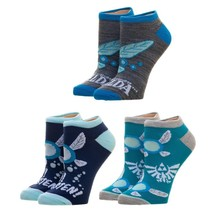 The Legend Of Zelda Video Game 3 Pack Ankle Socks Nwt - $12.00