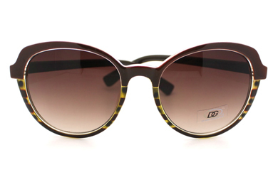 Womens Sunglasses Classic Casual Fashion Sunnies 2-Tone Print BROWN