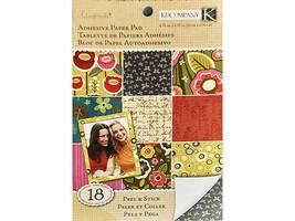 K&Company Handmade Adhesive Paper Pad, Peel & Stick,18 Sheets #30-320215