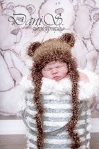 NEWBORN BABY GIRL OR BOY TEDDY BEAR HAT PHOTO PROP - $12.00