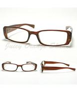 SMALL RECTANGULAR Eyeglass Frames BROWN SIMPLE CLASSIC CASUAL NARROW Design - $9.85