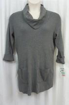 Inc International Concepts Woman Sweater Sz 0X Medium Heather Grey Casual  - $24.18