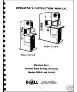 DoAll Band Saw  CONTOUR-MATC Oper. Manual Model  MP20 - $22.00