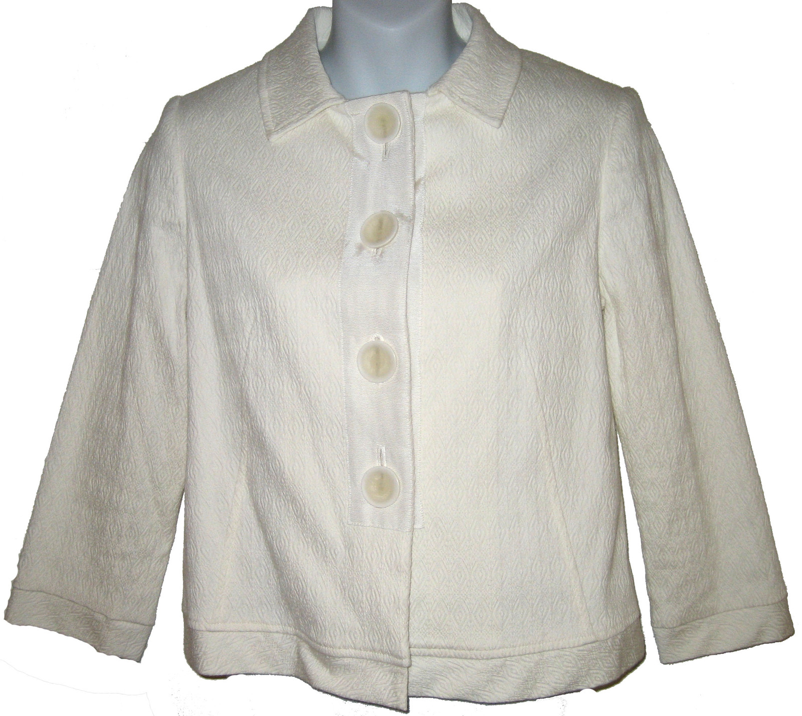 Primary image for Philippe Adec jacquard cropped jacket sz 6 US / 40 EUR NEW $175