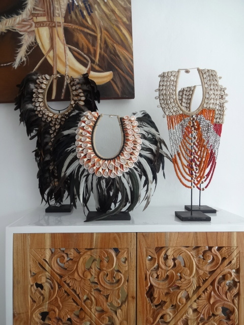 Primary image for Shell Necklace Tribal Home Decor Interior Designer With Bead Papua Fashion Style