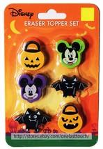 RUZ* 6pc Set DISNEY Party Favors ERASERS TOPPER SET Halloween *YOU CHOOSE* New! image 2