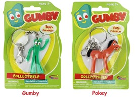 Gumby, Pokey Bendable Keychains - $4.99